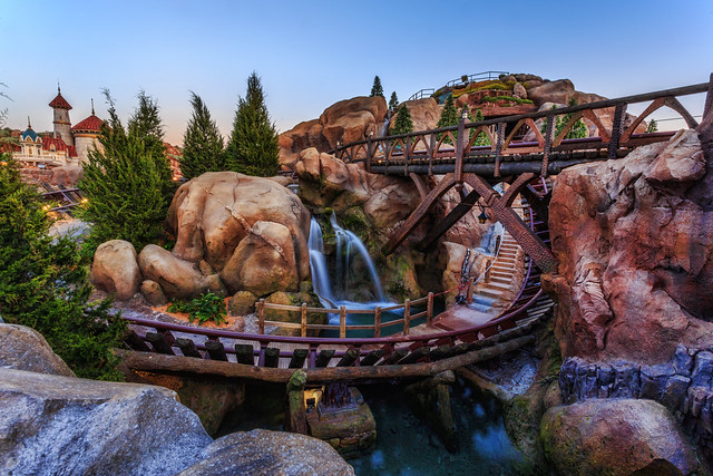 The Seven Dwarfs Mine Train Ride at Dusk