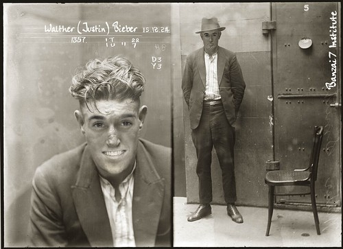 VINTAGE BIEBER MUGSHOT by WilliamBanzai7/Colonel Flick