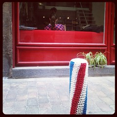 Yarn Bombing barbershop