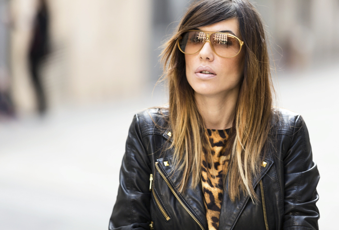 street style barbara crespo leopard print chiffon dress 6ks fashion blogger outfit blog de moda