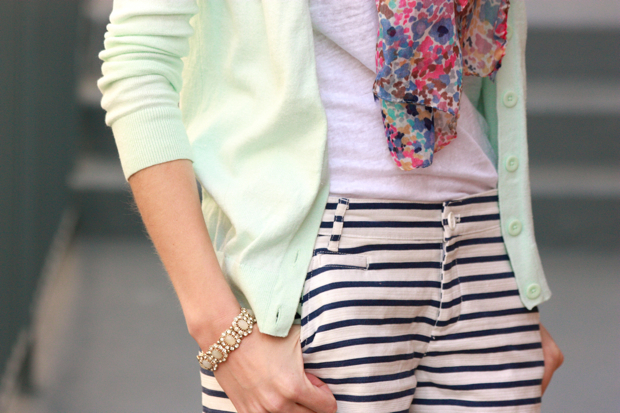 Striped Shorts, Mixed Prints