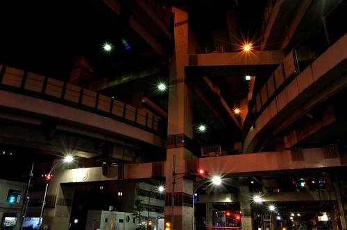 箱崎ジャンクション_夜景_キットレンズで撮影