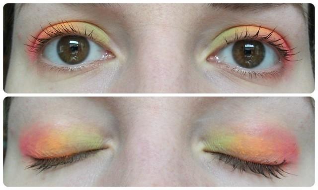Makeup Revolution Redemption Palette Sunset EOTD