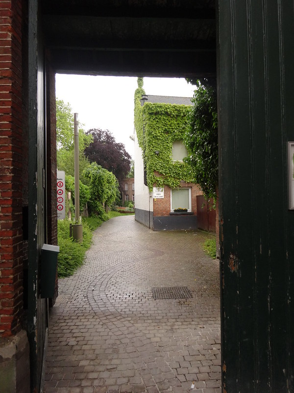 Down an alleyway and into a park