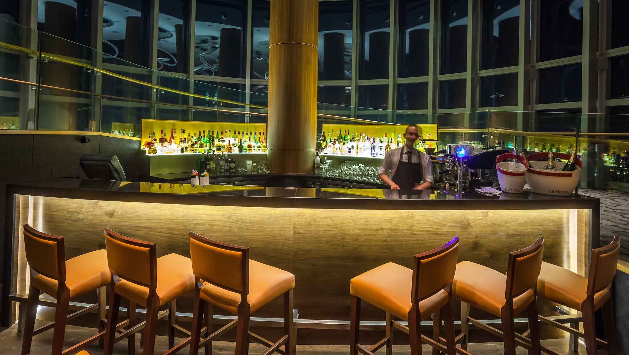 New Bar Area at the Mezzanine Level