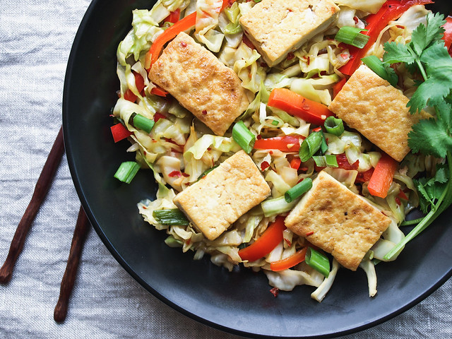 Spicy Stir-Fried Tofu With Kale And Red Pepper Recipes — Dishmaps