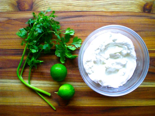 cilantro white sauce ingredients