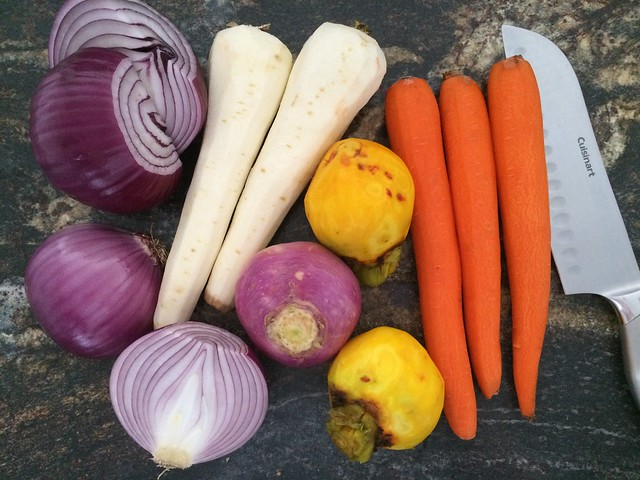 Root Vegetables Prepped