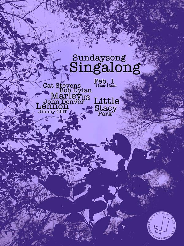 singalong flyer