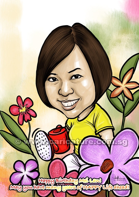 digital gardener caricature (watermarked)