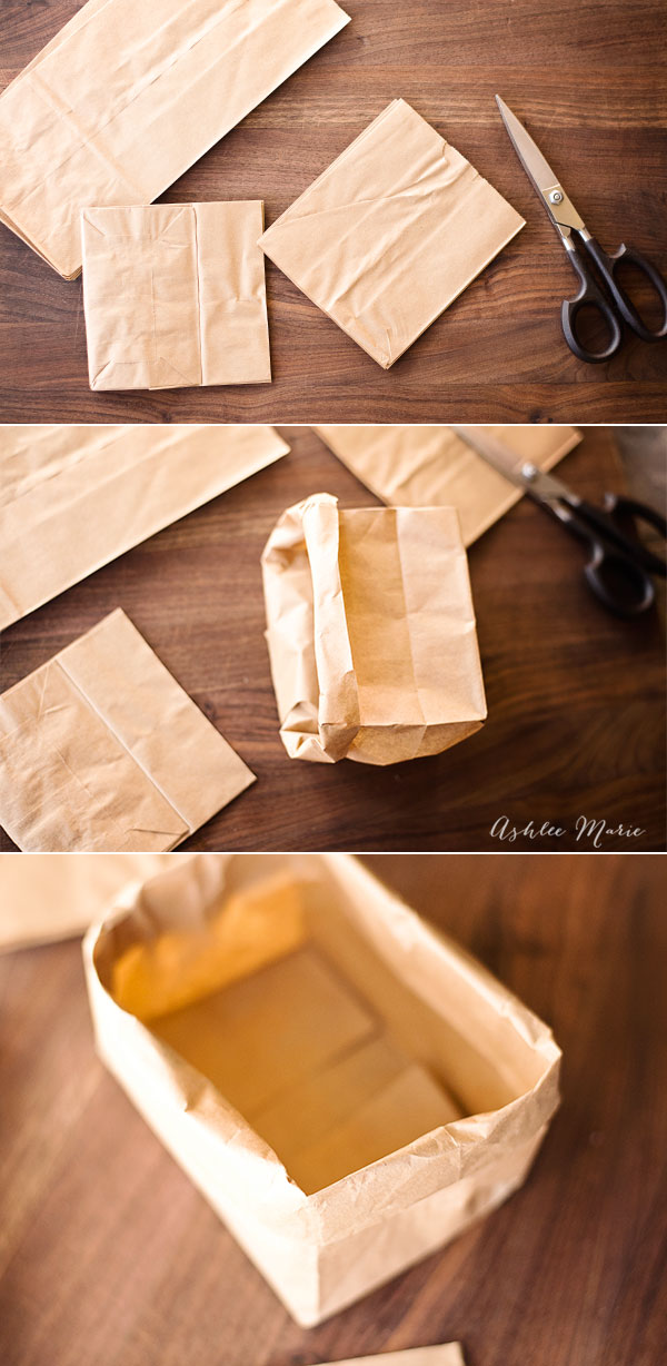 Popcorn bars can get messy so we make individual containers out of lunch sacks