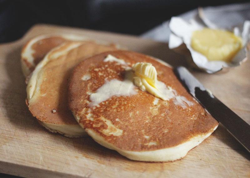 Scotch pancakes and butter, Bumpkin Betty