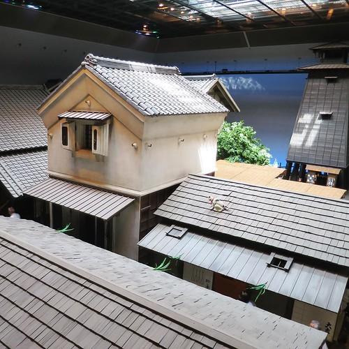 中の展示、でかっ! #深川江戸資料館