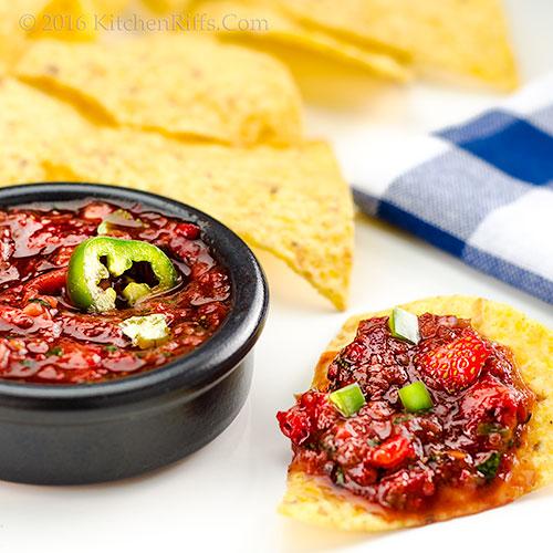 Strawberry-Chipotle Salsa with Jalapeño