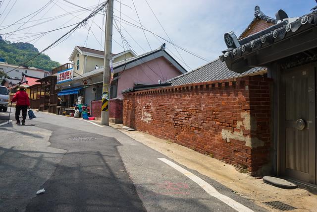 Old brick wall, Mokpo, South Korea