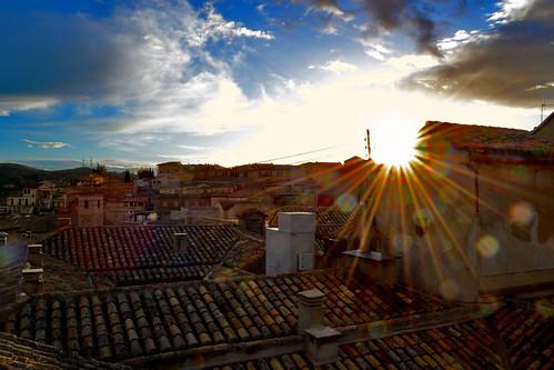 santa blue sunset sky españa sol atardecer nikon toledo nubes semana tejados judería 2013 d3100