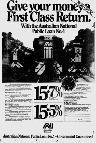 """Give your money a First Class Return with Australian National"""""""