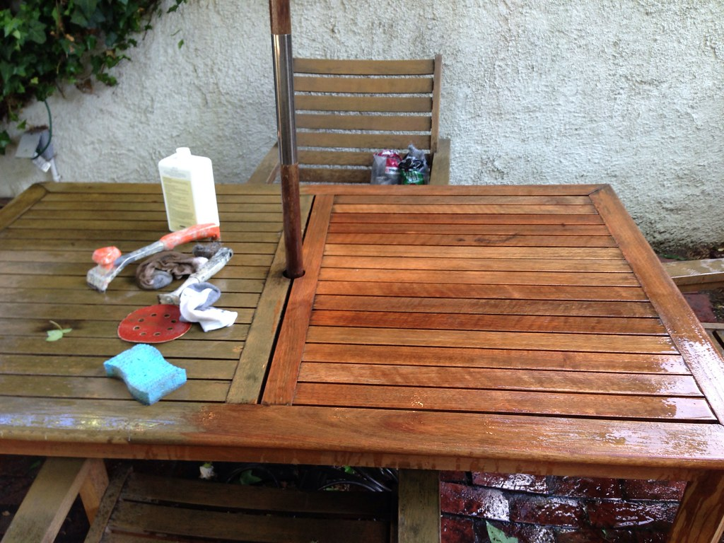 . Bringing Teak Outdoor Furniture Back from the Brink   Old Town Home