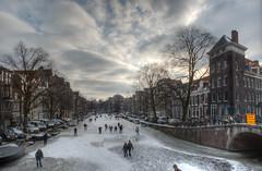 2012 02 08 Keizers en Prinsengracht bevroren