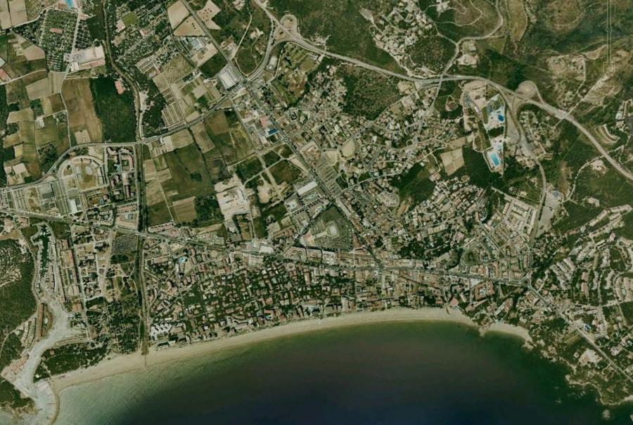 castell, platja, d'aro, playa, de aro, gerona, girona, cataluña, catalunya, costa, litoral, antes, desastre, urbanístico, planeamiento, urbano, construcción, urbanismo