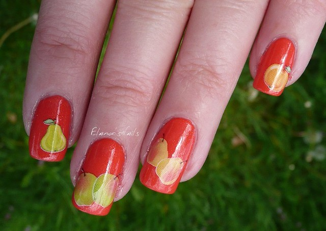 fruit decals nail art 3