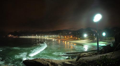 Rio by night-Arpoador and Ipanema beach