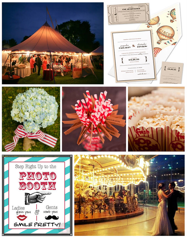 carnival-circus-vintage-theme-wedding