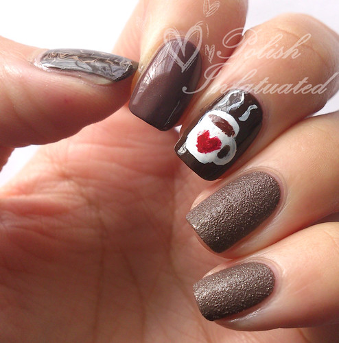 hot chocolate nail art