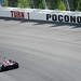 Marco Andretti enters Turn 1 at Pocono Raceway