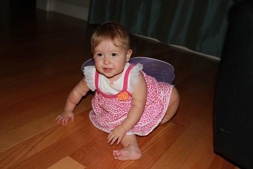 Dakota wearing fairy wings