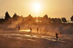 Morning sun at Pamukkale