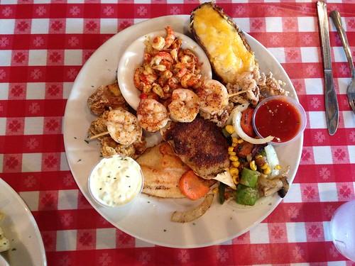 seafood platter at Mulata's