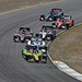 Tristan Vautier leads a group of cars through the Turn 6 carousel during the GoPro Grand Prix of Sonoma