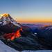 Sunrise over Llanganuco Valley by ehodgesphoto