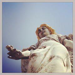 Hello my Angel -- #summerofcloar #gibsonbayou #earlear #angel #statue #monument #cloar