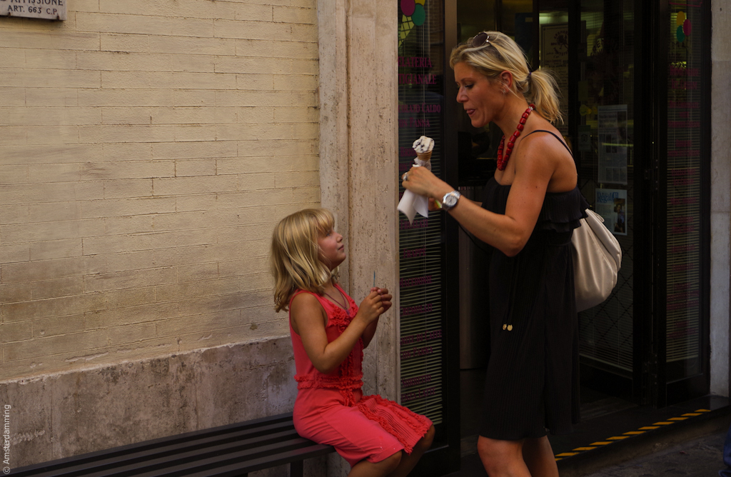 Rome, Mother-Daughter-Icecream