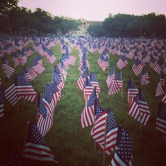 9/11 memorial on the LBC quad #tulane #usa Thanks @ajrunner for the photo