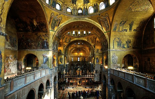 Interior View of St. Mark's Basilica, Venice, Italy