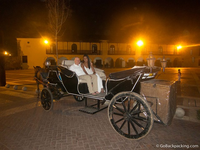Carriage ride in Cartagena