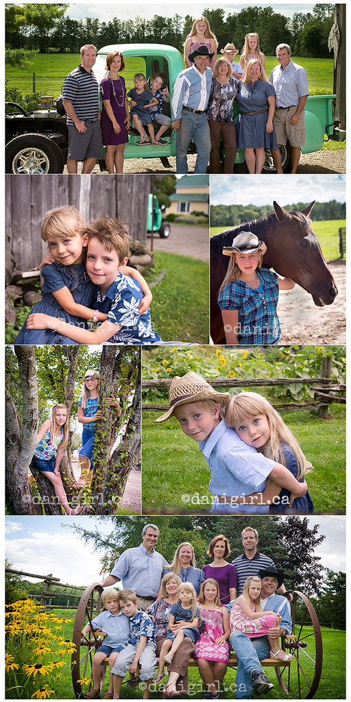 portraits of kids on the farm in summer near Ottawa