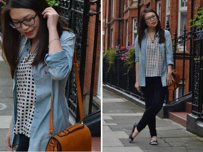 Daisybutter - UK Style and Fashion Blog: what i wore, british fashion blogger, levi's modern frontiers, levi's aw13, denim shirt, how to wear a denim shirt