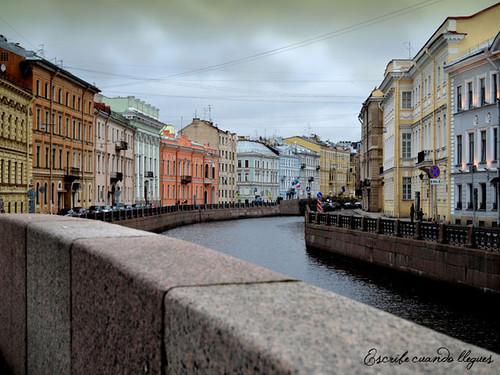 Vista desde un canal de San Petersburgo