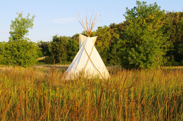 Rental Teepee at Yellow Medicine River Campground, Upper Sioux Agency State Park, Minnesota, September 7, 2013