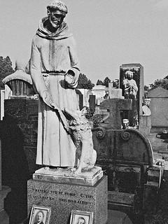 Milan cemetery in B&W