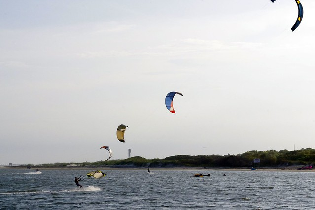 Kite Surfers, Sullivan's Island, South Carolina, June 12, 2012