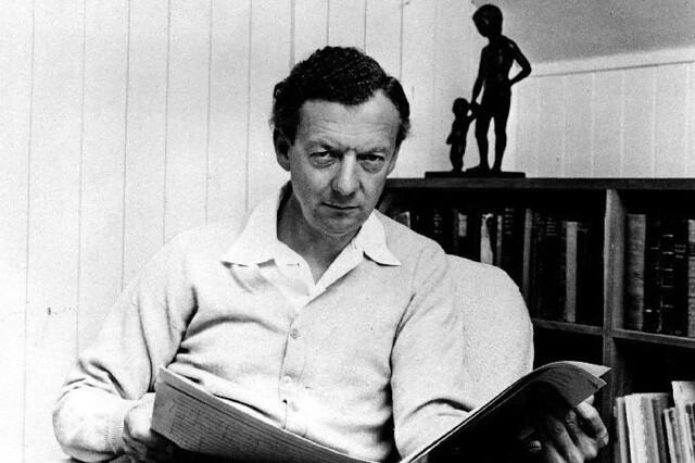 Composer Benjamin Britten © Hans Wild 1968