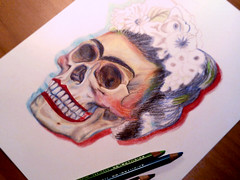 dRAWING fRIDAS sKULL