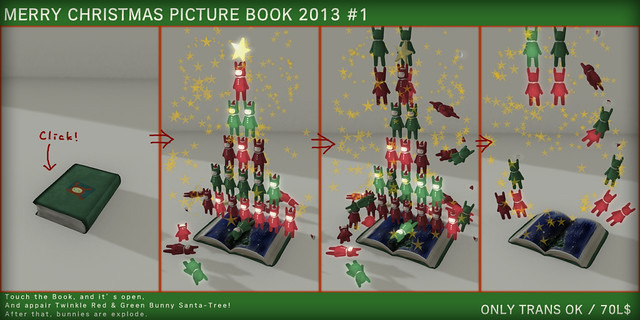 Christmas PictBook Green&Red