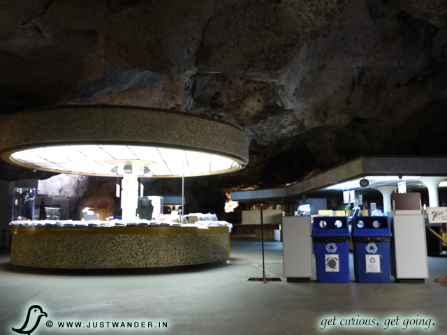 PIC: Snack bar and Gift Shop 750 feet deep under the desert floor here at Carlsbad Caverns National Park