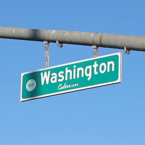 Washington Blvd. Sign